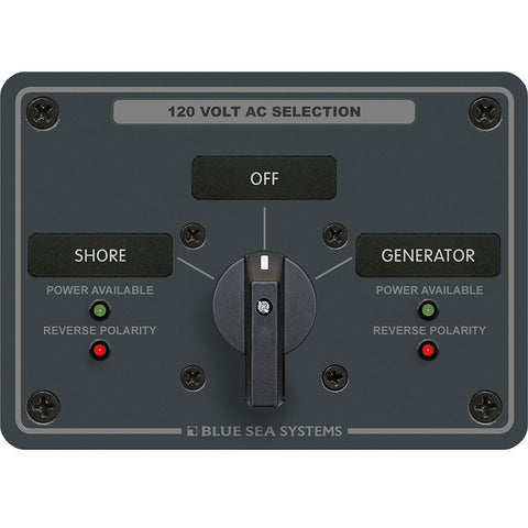 Blue Sea 8367 AC Rotary Switch Panel 30 Ampere 2 Positions + OFF, 2 Pole - Reel Draggin' Tackle