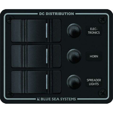 Blue Sea 8374 Water Resistant 3 Position - Black - Vertical Mount Panel - Reel Draggin' Tackle