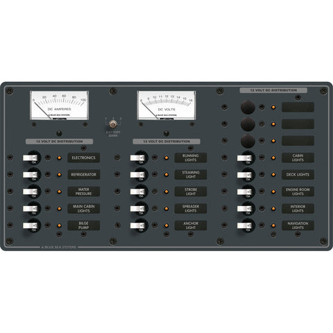 Blue Sea 8378 DC 18 Position Panel - White - Reel Draggin' Tackle