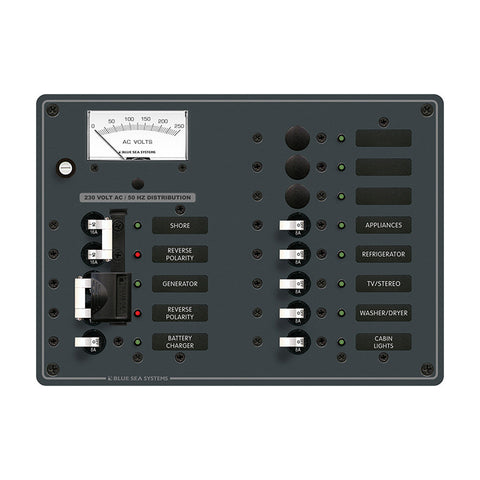 Blue Sea 8562 AC Toggle Source Selector (230V) - 2 Sources + 9 Positions - Reel Draggin' Tackle