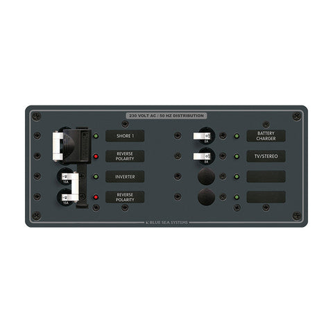 Blue Sea 8599 AC Toggle Source Selector (230V) - 2 Sources + 4 Positions - Reel Draggin' Tackle