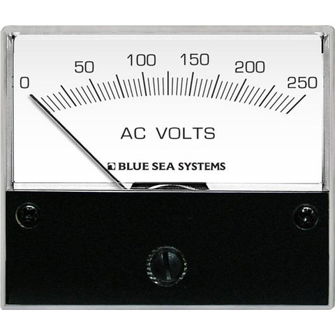 Blue Sea 9354 AC Analog Voltmeter 0-250 Volts AC - Reel Draggin' Tackle