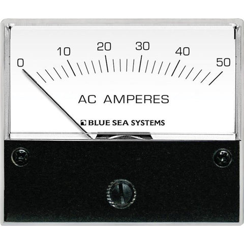 Blue Sea 9630 AC Analog Ammeter  0-50 Amperes AC - Reel Draggin' Tackle
