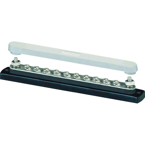 Blue Sea 2312, 150 Ampere Common Busbar 20 x 8-32 Screw Terminal with Cover - Reel Draggin' Tackle