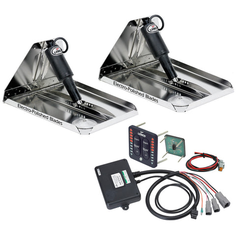 "Lenco 16"" x 12"" Heavy Duty Performance Trim Tab Kit w/LED Indicator Switch Kit 12V - Reel Draggin' Tackle"