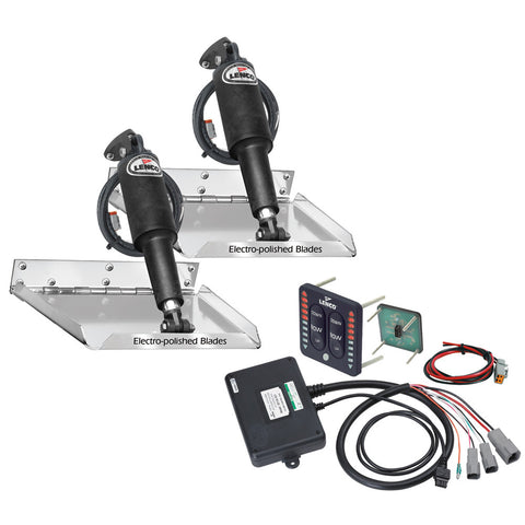 "Lenco 18"" x 14"" Standard Performance Trim Tab Kit w/LED Indicator Switch Kit 12V - Reel Draggin' Tackle"