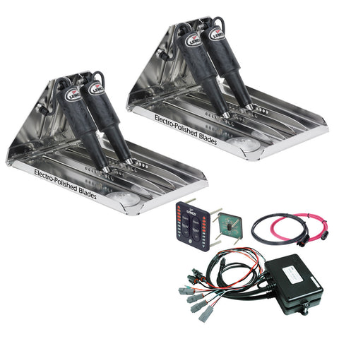 "Lenco 19"" x 14"" Extreme Duty Performance Trim Tab Kit w/LED Indicator Switch Kit 12V - Reel Draggin' Tackle"