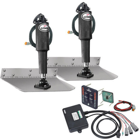 "Lenco 9"" x 36"" Standard Trim Tab Kit w/LED Indicator Switch Kit 12V - Reel Draggin' Tackle"