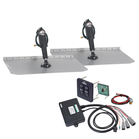 "Lenco 12"" x 24"" Standard Trim Tab Kit w/Standard Tactile Switch Kit 12V - Reel Draggin' Tackle"