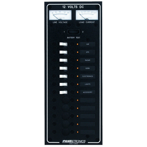 Paneltronics Standard DC 12 Position Breaker Panel w/LEDs - Reel Draggin' Tackle