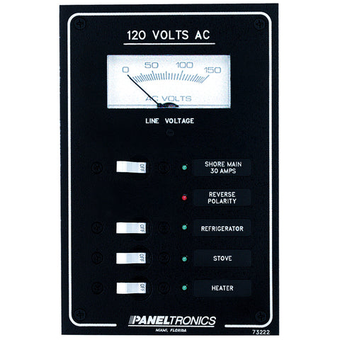 Paneltronics Standard AC 3 Position Breaker Panel & Main - Reel Draggin' Tackle