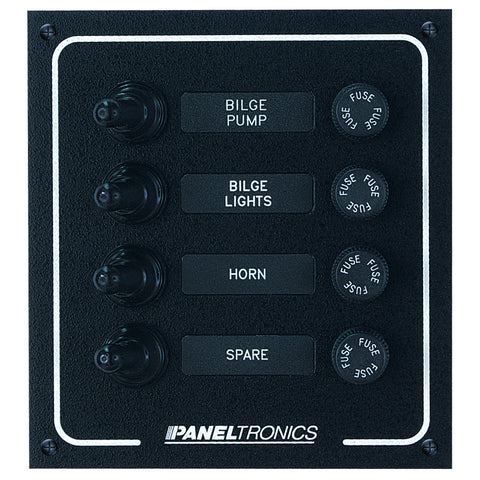 Paneltronics Waterproof DC 4 Position Booted Toggle & Fuse - Reel Draggin' Tackle
