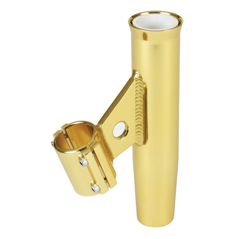 "Lee's Clamp-On Rod Holder - Gold Aluminum - Vertical Mount - Fits 1.315"" O.D. Pipe - Reel Draggin' Tackle"