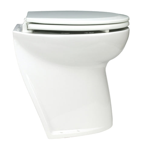 Jabsco Deluxe Flush Electric Toilet - Fresh Water - Angled Back - Reel Draggin' Tackle