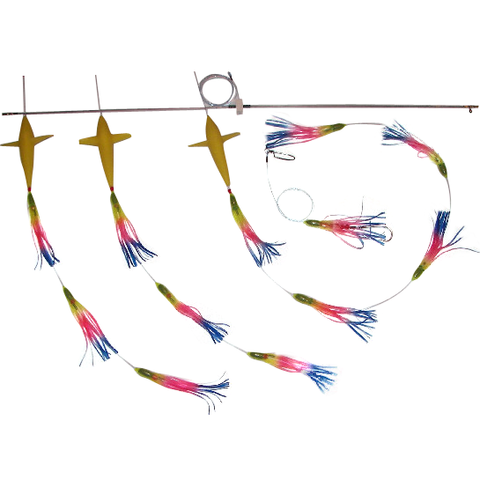 Spreader Bars -5 inch Skirt Squid BIRD Bars - Reel Draggin' Tackle - 1
