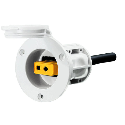Cannon Flush Mount Power Port - White - Reel Draggin' Tackle