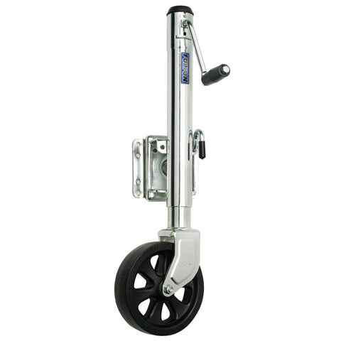 Fulton Single Wheel 1,500 lbs. Bolt-Thru Swivel Jack - Reel Draggin' Tackle