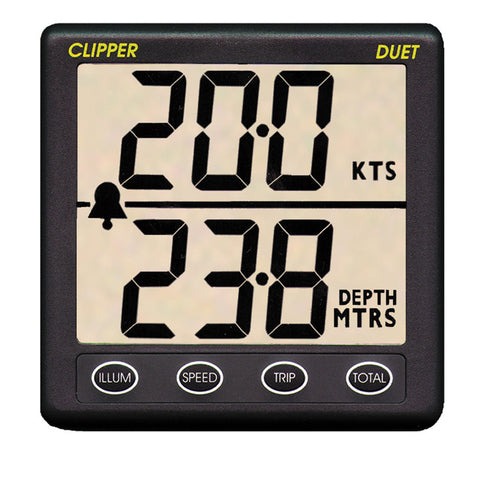 Clipper Duet Instrument Depth Speed Log w/Transducer - Reel Draggin' Tackle