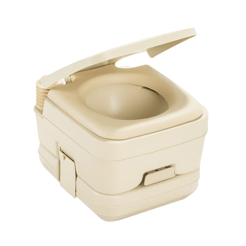 Dometic 964 Portable Toilet w/Mounting Brackets - 2.5 Gallon - Parchment