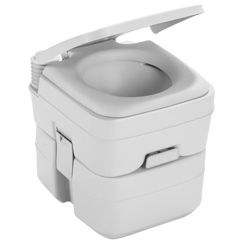Dometic 965 Portable Toilet w/Mounting Brackets- 5 Gallon - Platinum