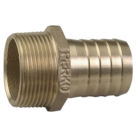 "Perko 3/4"" Pipe to Hose Adapter Straight Bronze MADE IN THE USA - Reel Draggin' Tackle"
