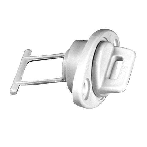 "Beckson 1"" Drain Plug Screw Type w/Gasket - White - Reel Draggin' Tackle"
