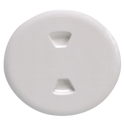 "Beckson 5"" Twist-Out Deck Plate - White - Reel Draggin' Tackle"
