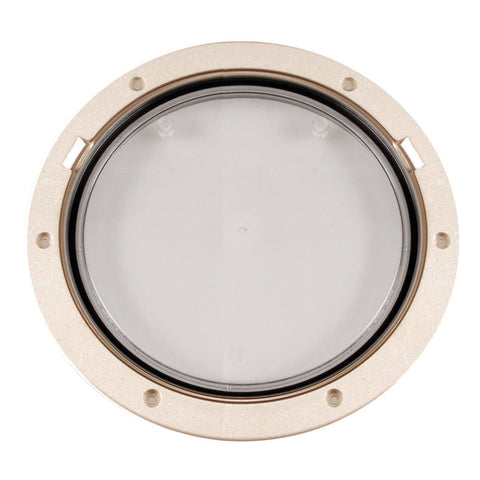 "Beckson 8"" Clear Center Pry-Out Deck Plate - Beige - Reel Draggin' Tackle"
