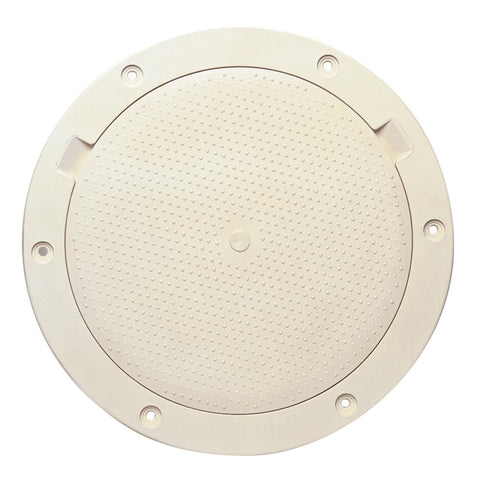 "Beckson 8"" Non-Skid Pry-Out Deck Plate - Beige - Reel Draggin' Tackle"