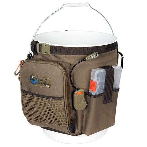 Wild River RIGGER 5 Gallon Bucket Organizer w/Light, Plier Holder & Retractable Lanyard - Reel Draggin' Tackle