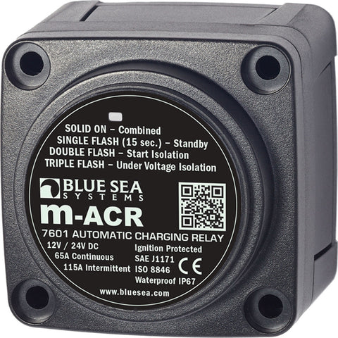 Blue Sea 7601 DC Mini ACR Automatic Charging Relay - 65 Amp - Reel Draggin' Tackle