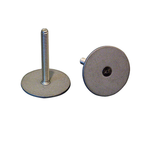 "Weld Mount 1.5"" Tall Stainless Steel Stud w/#10 x 24 Threads - Qty. 10 - Reel Draggin' Tackle"