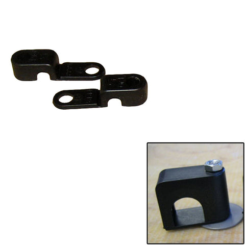 "Weld Mount Single Poly Clamp f/1/4"" x 20 Studs - 1/4"" OD - Requires 0.75"" Stud - Qty. 25 - Reel Draggin' Tackle"