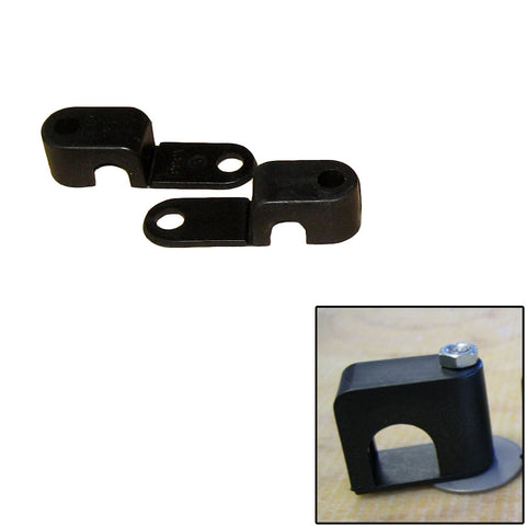 "Weld Mount Single Poly Clamp f/1/4"" x 20 Studs - 3/8"" OD - Requires 1"" Stud - Qty. 25 - Reel Draggin' Tackle"
