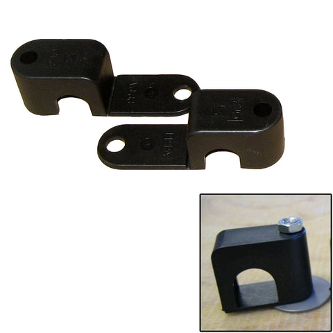 "Weld Mount Single Poly Clamp f/1/4"" x 20 Studs - 1/2"" OD - Requires 1.5"" Stud - Qty. 25 - Reel Draggin' Tackle"