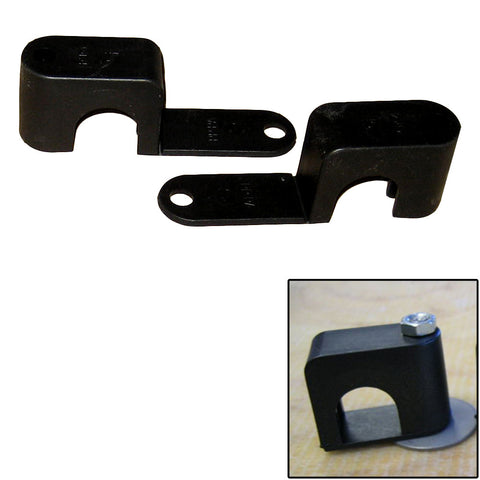 "Weld Mount Single Poly Clamp f/1/4"" x 20 Studs - 3/4"" OD - Requires 1.75"" Stud - Qty. 25 - Reel Draggin' Tackle"