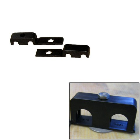 "Weld Mount Double Poly Clamp f/1/4"" x 20 Studs - 1/4"" OD - Requires 0.75"" Stud - Qty. 25 - Reel Draggin' Tackle"