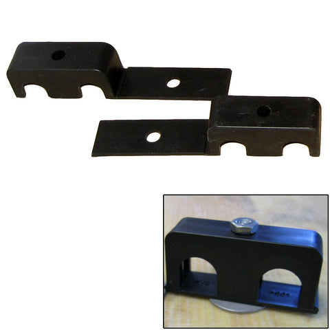 "Weld Mount Double Poly Clamp f/1/4"" x 20 Studs - 1/2"" OD - Requires 1.5"" Stud - Qty. 25 - Reel Draggin' Tackle"