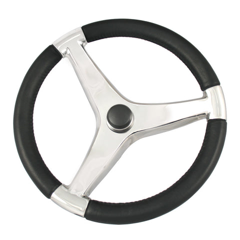 "Ongaro Evo Pro 316 Cast Stainless Steel Steering Wheel - 13.5""Diameter - Reel Draggin' Tackle"