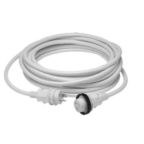 Marinco 30A 125V Molded Standard Cordset - White - 50' - Reel Draggin' Tackle