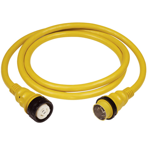 Marinco 50A 125V Shore Power Cable - 50' - Yellow - Reel Draggin' Tackle - 1