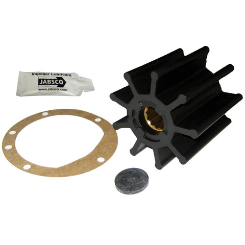 "Jabsco Impeller Kit - 9 Blade - Nitrile - 3-3/4"" Diameter x 3-1/2"" W, 1"" Shaft Diameter - Reel Draggin' Tackle"