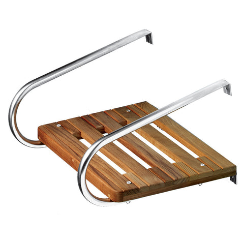 Whitecap Teak Swim Platform f/Inboard/Outboard Motors - Reel Draggin' Tackle