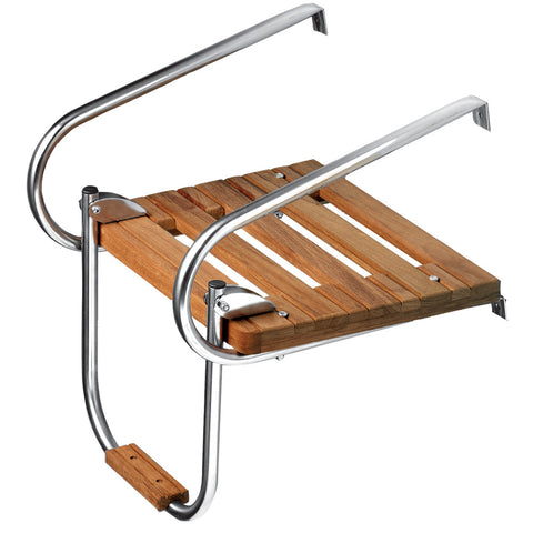 Whitecap Teak Swim Platform w/Ladder f/Inboard/Outboard Motors - Reel Draggin' Tackle