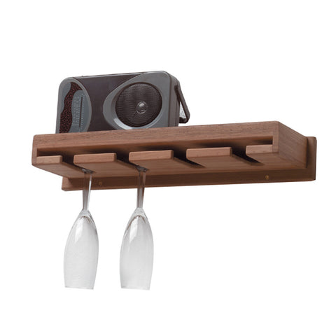 Whitecap Teak Wineglass Rack w/Shelf - Reel Draggin' Tackle