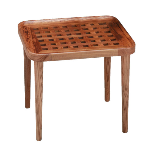 Whitecap Teak Cockpit Grate End Table - Reel Draggin' Tackle