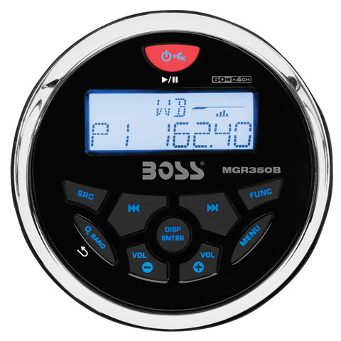 Boss Audio MGR350B Marine Gauge Style Radio - MP3/CD/AM/FM/RDS Receiver - Reel Draggin' Tackle