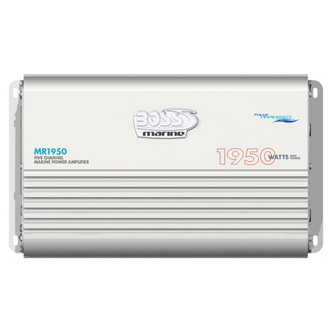 Boss Audio MR1950 Marine 5 Channel Full Range Class A/B Power Amplifier - 1950W - Reel Draggin' Tackle