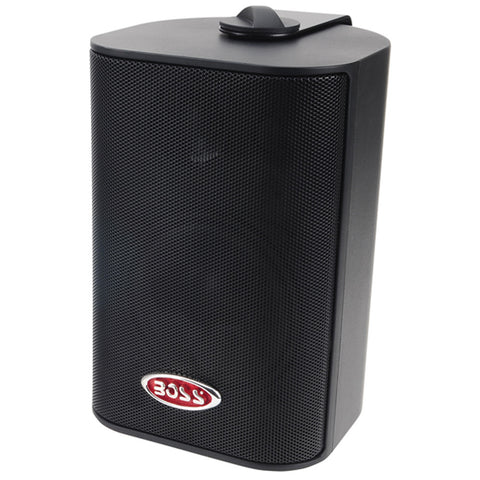 "Boss Audio MR4.3B 4"" 3-Way Marine Enclosed System Box Speaker - 200W - Black - Reel Draggin' Tackle"