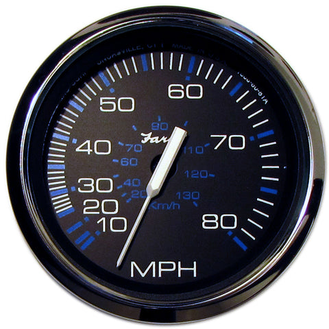 "Faria Chesapeake Black SS 4"" Speedometer - 80MPH (Mechanical) - Reel Draggin' Tackle"